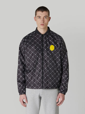 Giacca bomber in nylon light stampato