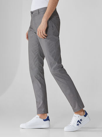 Pantaloni 70s fit in cotone armaturato