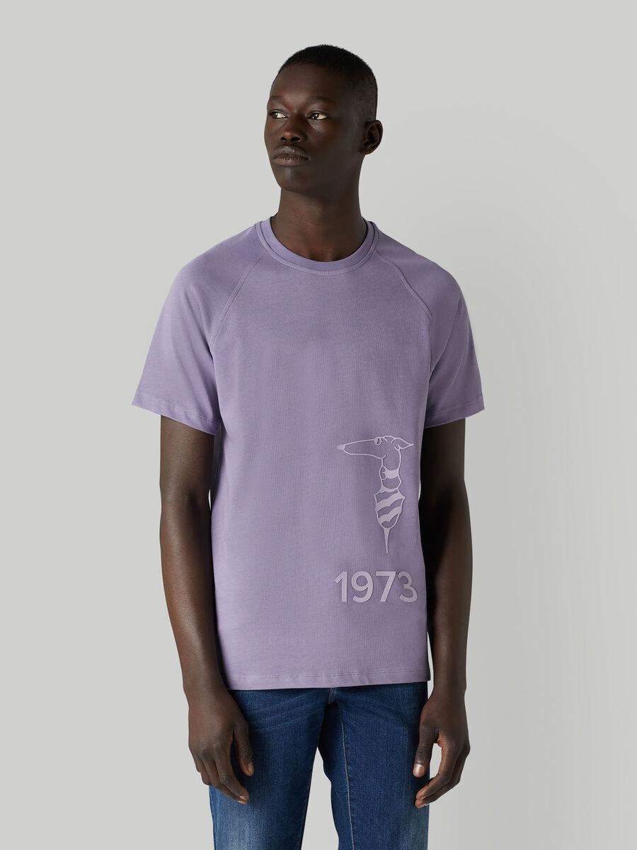 T-shirt in jersey di cotone con logo