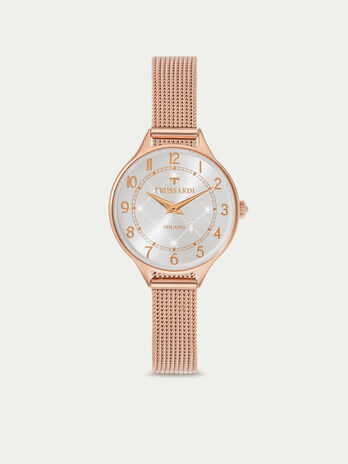 T Queen watch with Milanese mesh strap