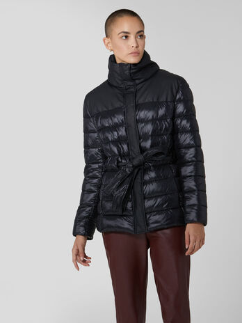Light nylon quilted down jacket