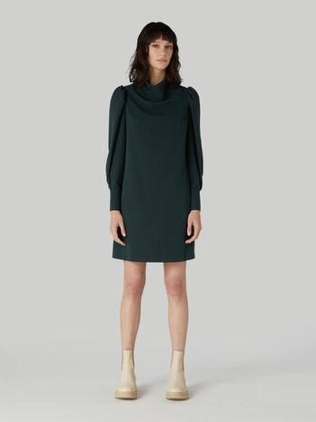 Short technical viscose dress