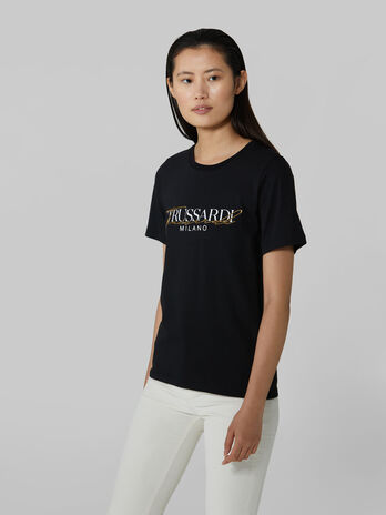 Regular fit T-shirt in soft pure cotton