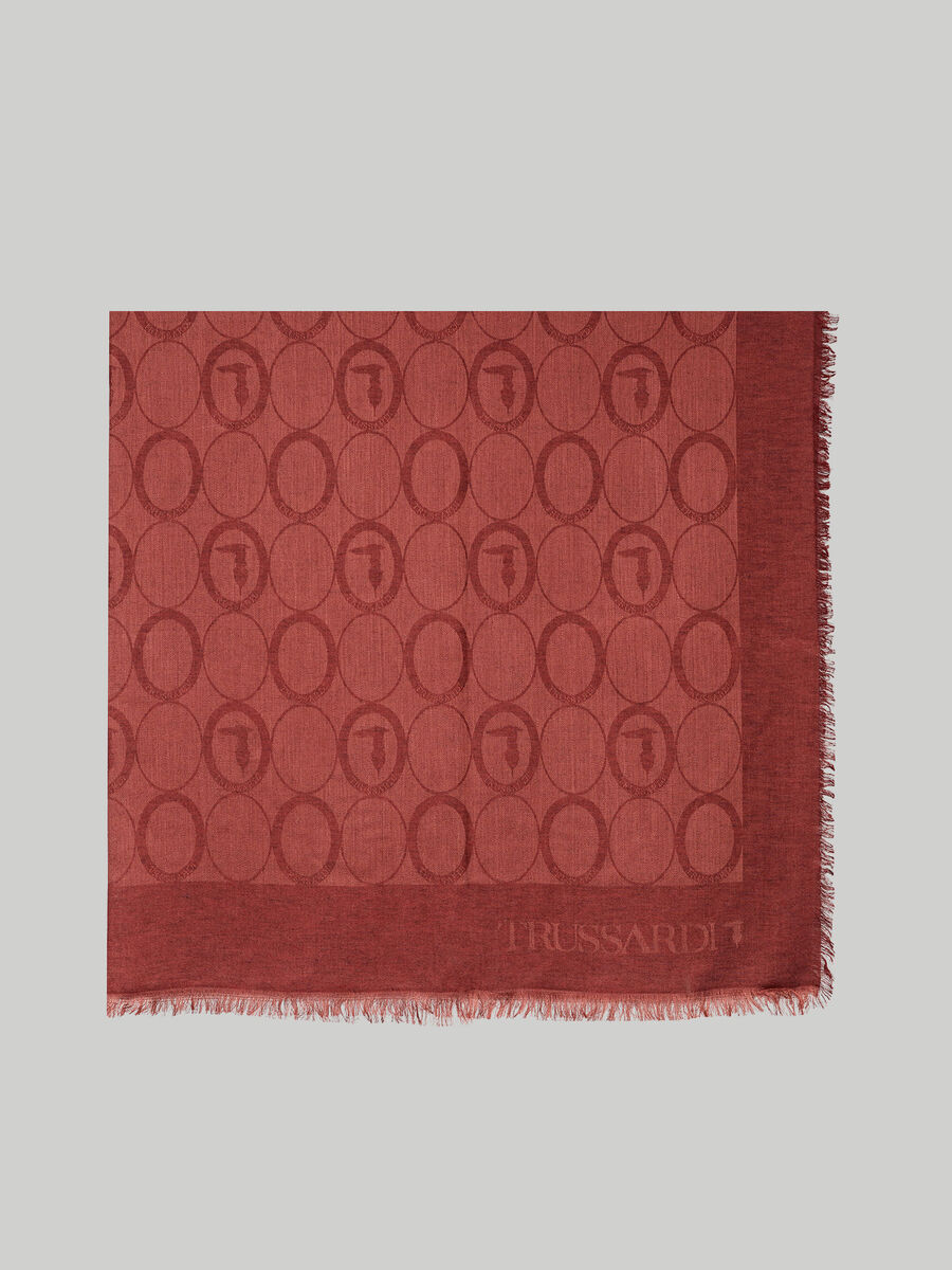 Wool and modal-blend jacquard keffiyeh