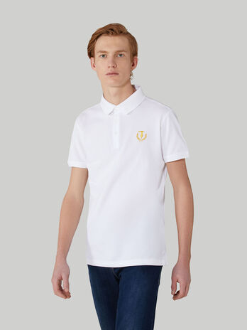 Cotton pique polo-shirt