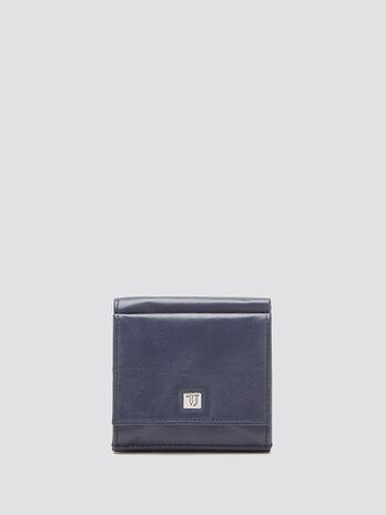 Portafoglio con portamonete logato granato