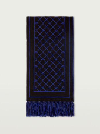 Sciarpa in maglia jacquard con logo