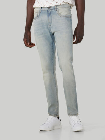 Skinny-Jeans aus Vintage-Denim