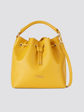 Small and light saffiano T-Easy bucket bag