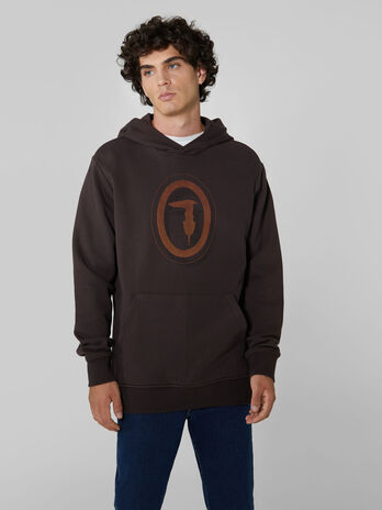 Regular fit cotton hoody
