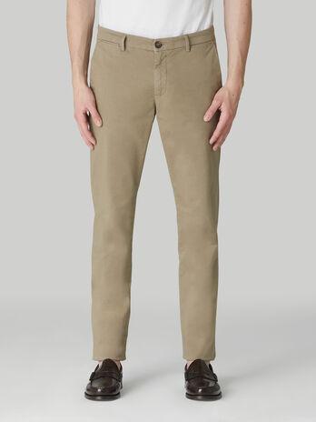 Pantalone aviator fit in gabardina di cotone light
