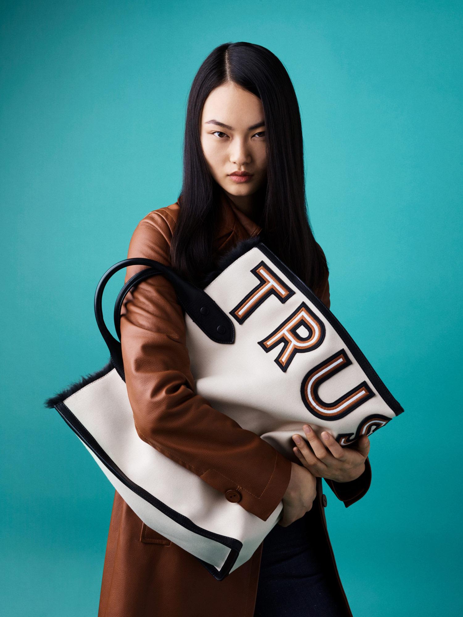 Womens Bags Tas Wanita Hand Bag Ssf0686 Regular Lovy In Striped Tresor Calfskin